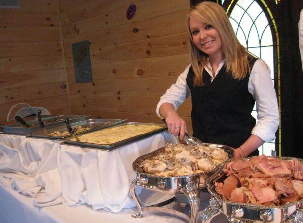 Kaylie serving the Buffet