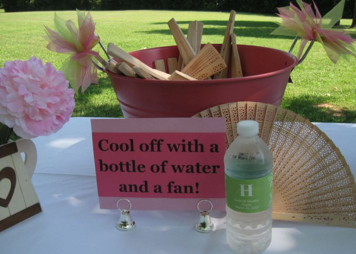 Monogram Waterbottles and Fans