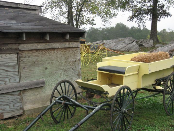 Hay Wagon and Storage Barn