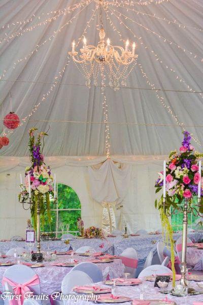Tent Liner, Chandeliers