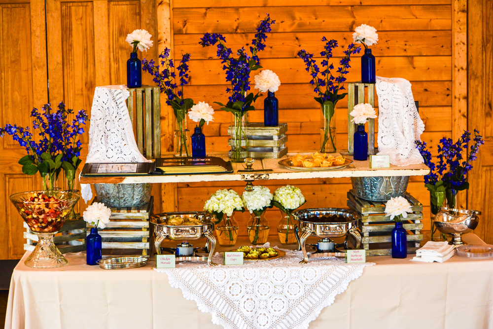 Rustic Vintage Display Knoxville Venue Wedding Catering