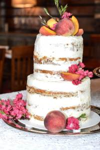 Naked Cheesecake Wedding Cake, Knoxville Wedding Catering