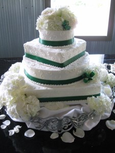 Green Ribbon Square/Round Alternate Knoxville, TN Wedding Cake