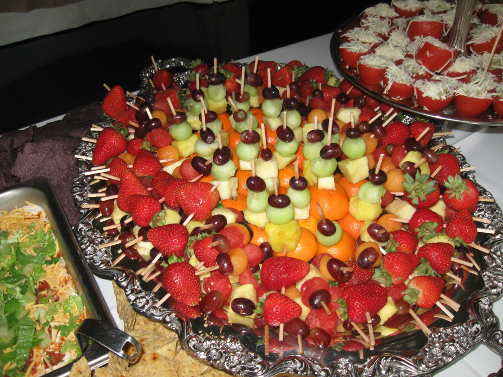 Skewered Fruit For Gourmet Wedding Catering
