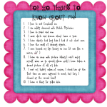 Top Ten About Me Linky Party