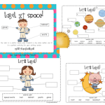 Label It Space! and Snowglobe Writing Prompt Freebie