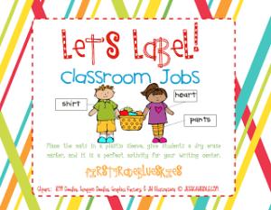 Label It! Classroom Jobs