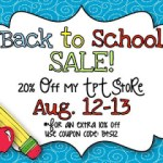 Back to School Sale! Giveaway, too!