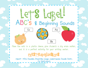 Label It! ABC and Beginning Sounds (with a freebie!)