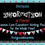 Common Core Expository Writing Pack & Freebie