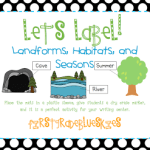 Label It! Landforms, Habitats, and Seasons (Freebie and Giveaway)