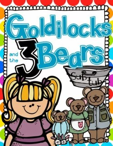 Goldilocks and the Three Bears Math and Literacy {Sub Tub}