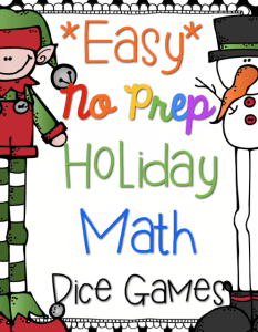 Just Add Dice Holiday Math Games