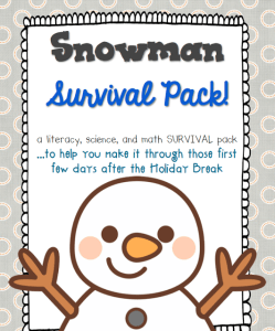 New Year Freebie and Snowman Survival Pack