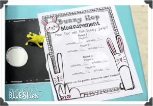 Hoppin' Bunny Measuring FREEBIE