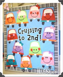 Cruisin' to Summer! End of the Year Bulletin Board Craftivity