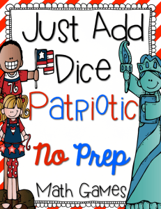 Patriotic Just Add Dice Games {Giveaway}