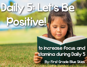 Daily 5 {Second Edition} FREEBIE and Book Study Ch 9