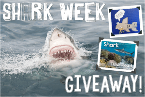 Shark Week Glyph and Close Read {Giveaway}