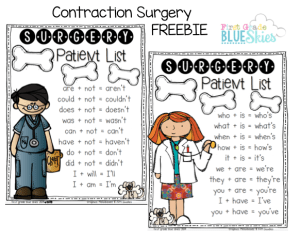 Contraction Surgery {FREEBIE}