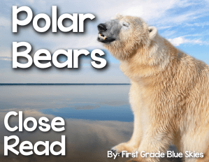 Polar Bear Close Read & New Year {FREEBIE}