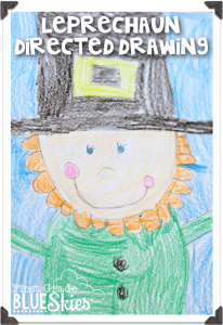 Leprechaun Directed Drawing {FREEBIE} and Video Tutorial