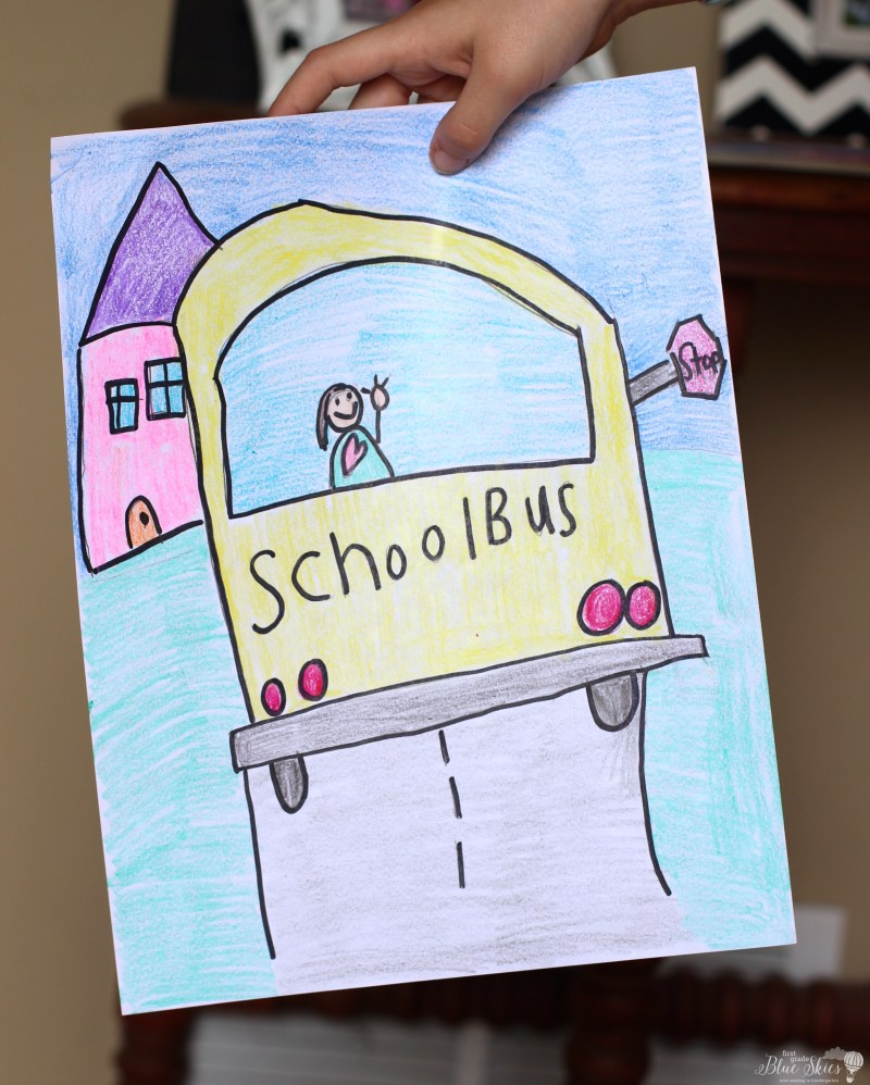 school bus directed drawing