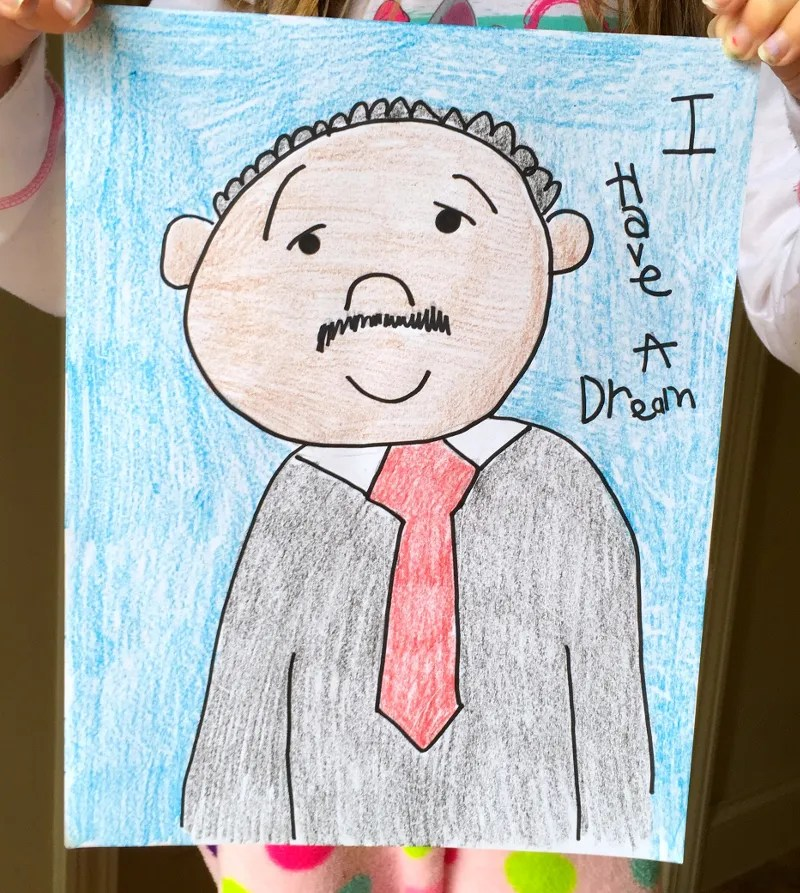 Martin Luther King Directed Drawing