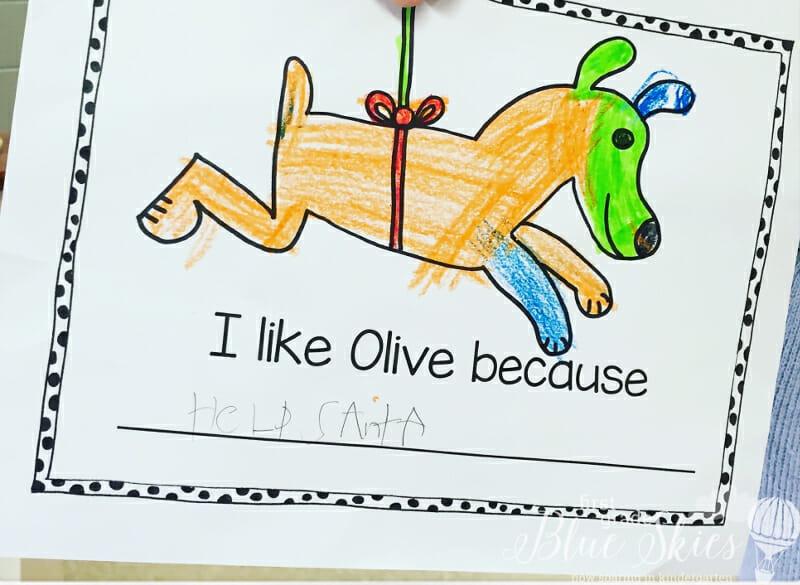 Olive Reindeer Writing FI