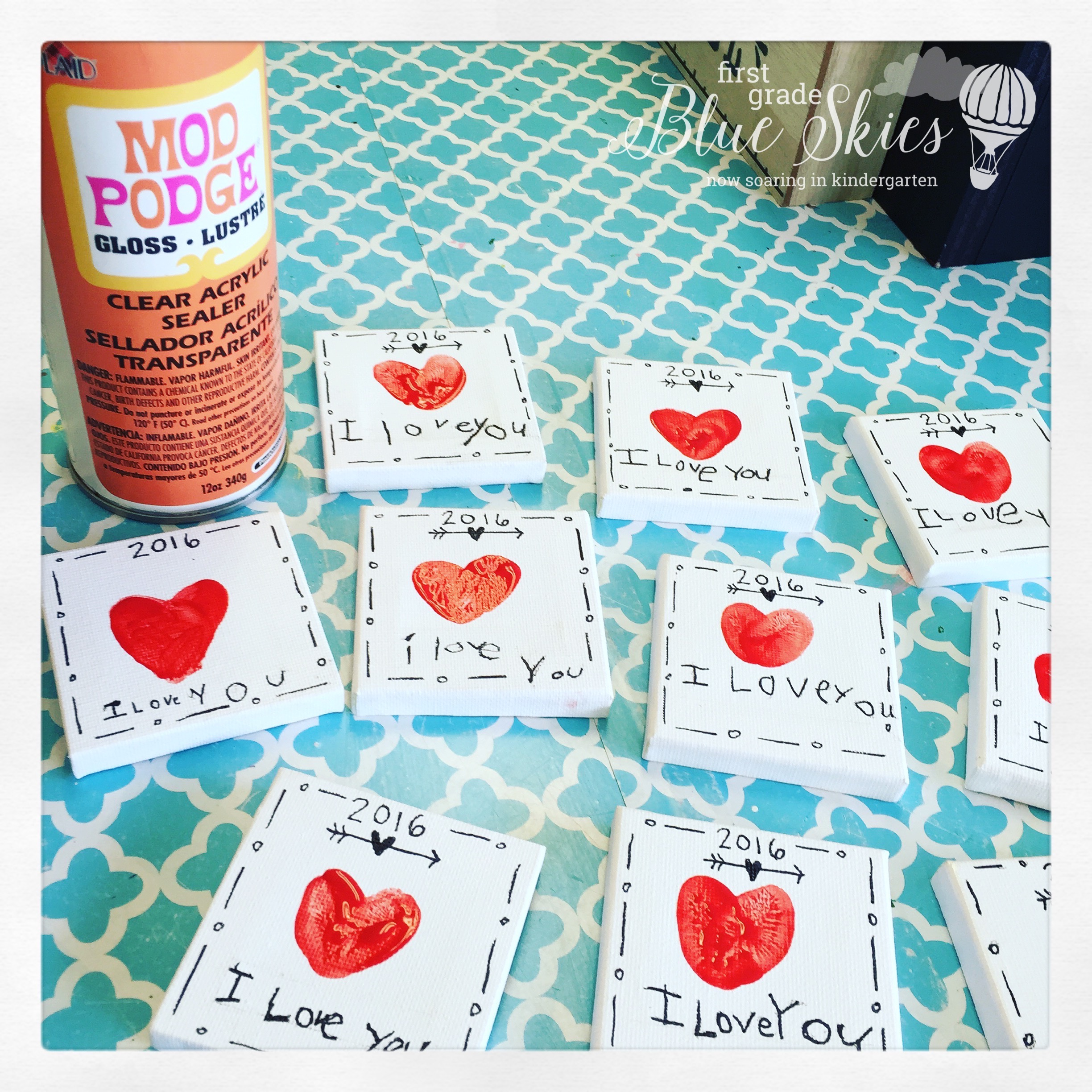 Mother 39 s day thumbprint magnet gift first grade blue skies for Mother s day crafts for kindergarten