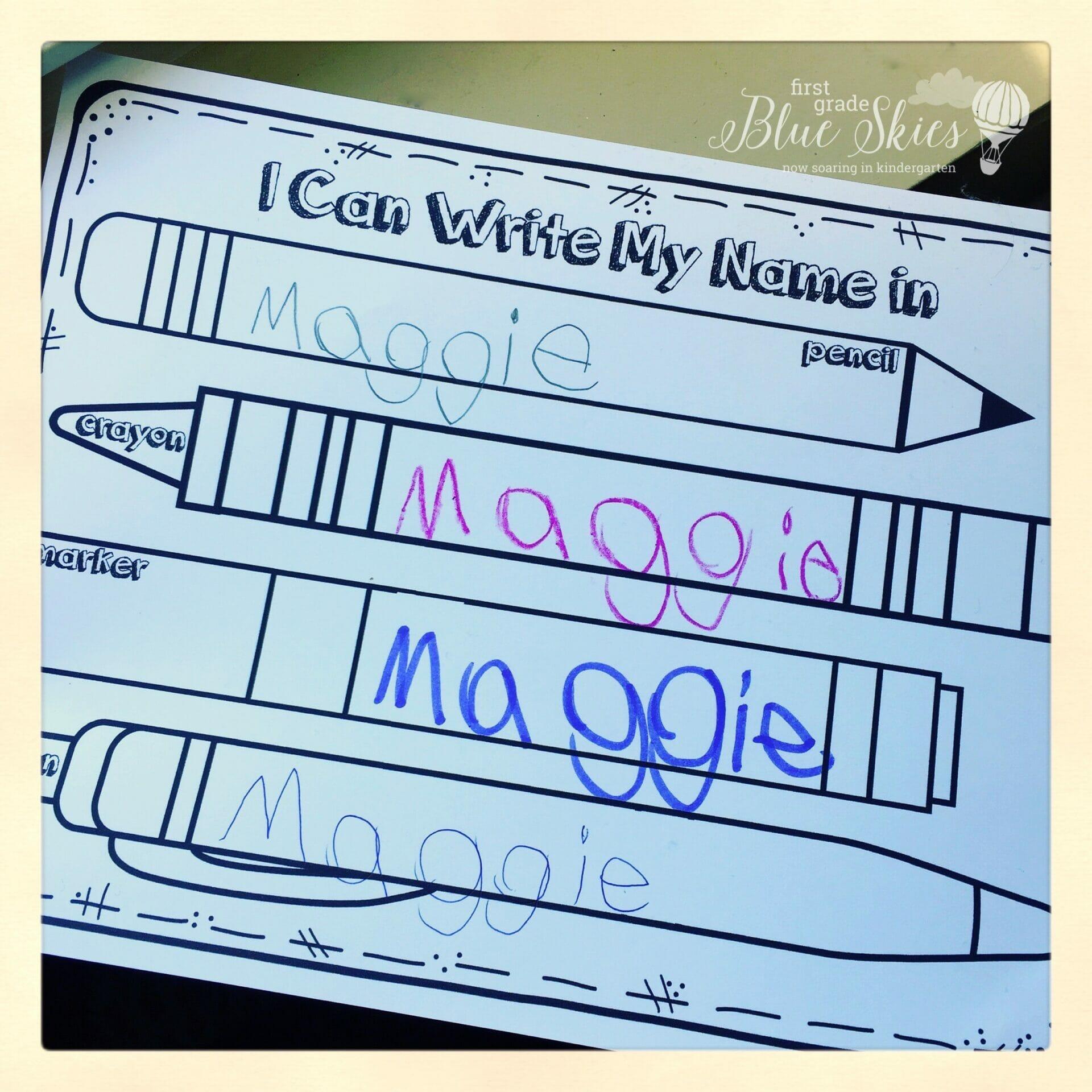 Name Writing Practice Handwriting Ideas And Freebie