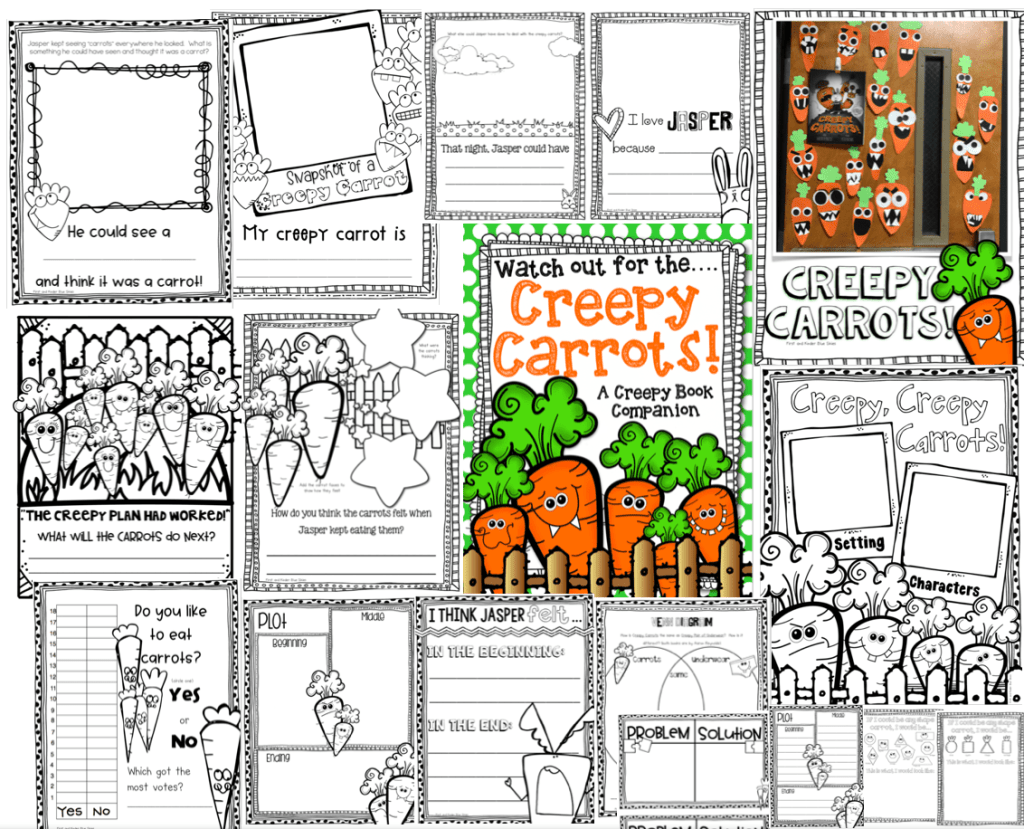 Creepy Carrots Craft and Activities
