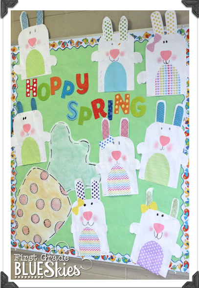 Hoppy Spring {Simple Bunny Glyph} - First Grade Blue Skies