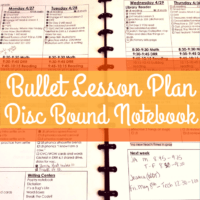 What I Use to Organize Bullet Lesson Plans
