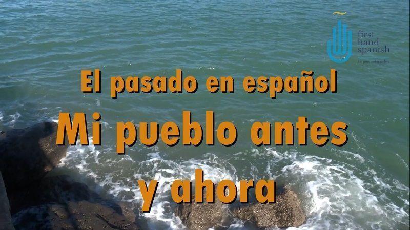 """Portada del artículo """"El pasado en español - mi pueblo antes y ahora"""""""