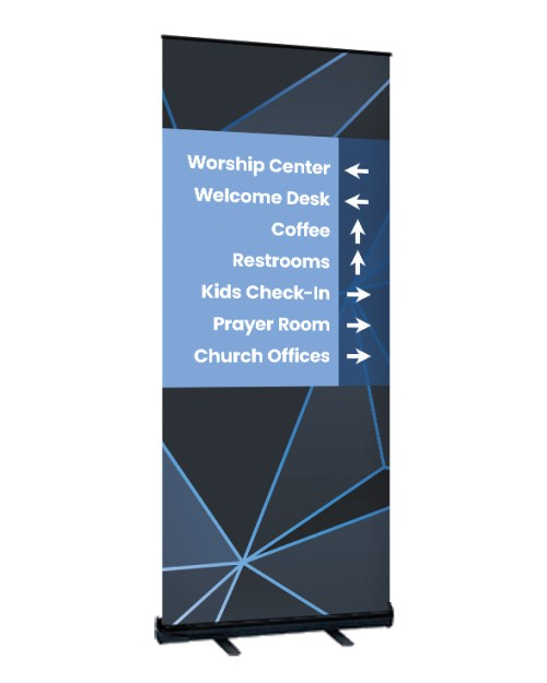 way-finding roll up banner