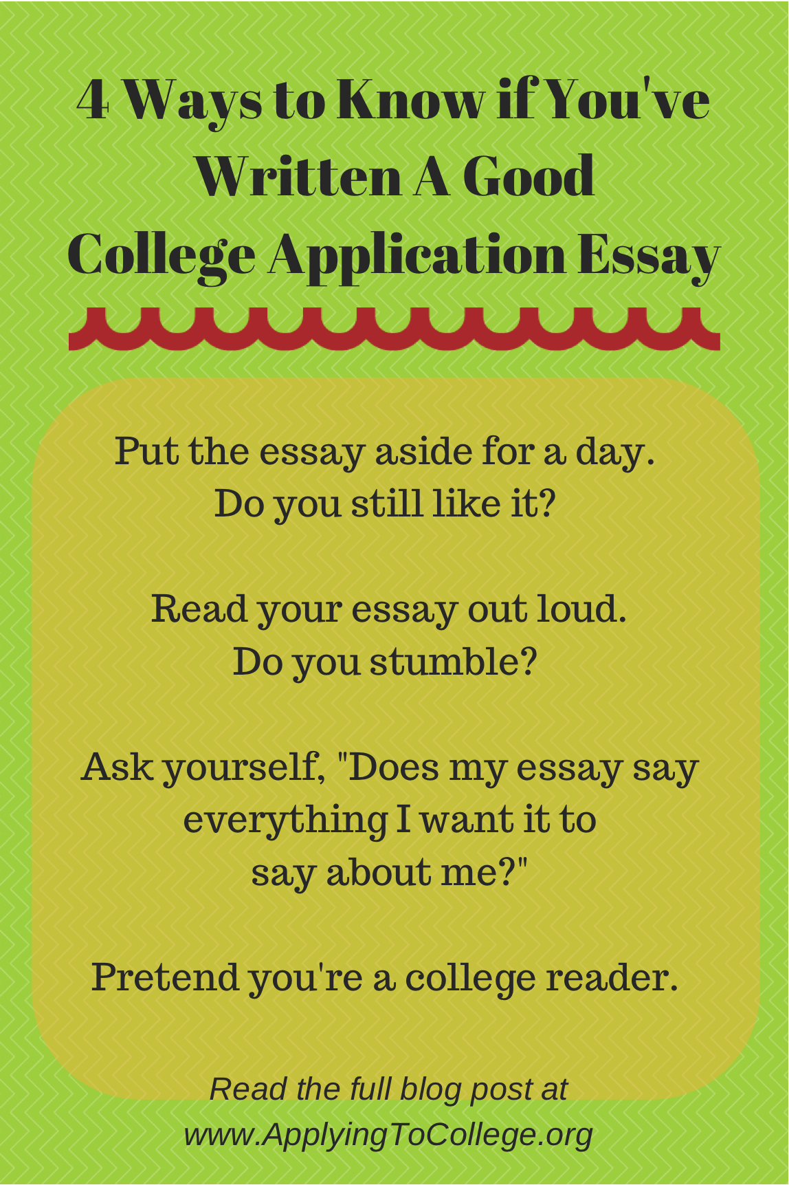 4 Ways To Know If You Ve Written A Good College Essay
