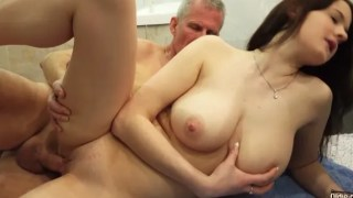 A very beautiful daughter fucking her father