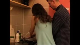 washing the dishes and fucking with daddy