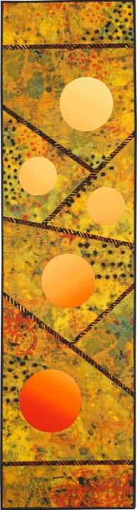 "Mogambo Moons, 16 1/2"" x 62"""