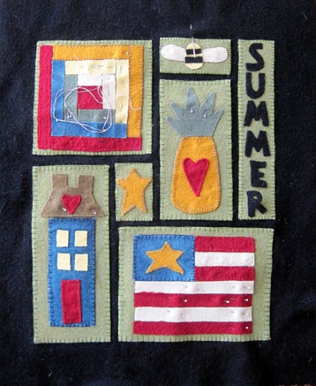 Vickie's wool applique