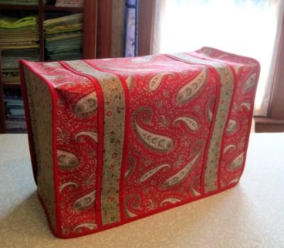 2013-3, Deborah's sewing machine dust cover, side view