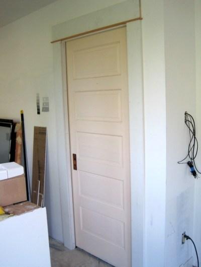 Week 6, pocket door framed