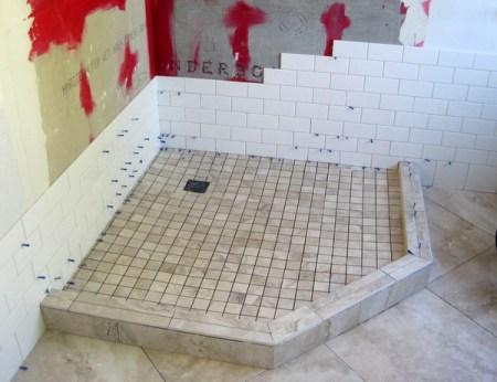 Week 6, tile in shower