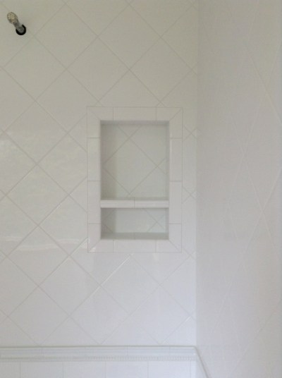 Week 8, shower tile with grout
