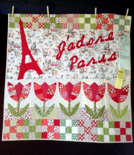J'Adore Paris!, 41 x 42, by Kristin Shields of Bend OR