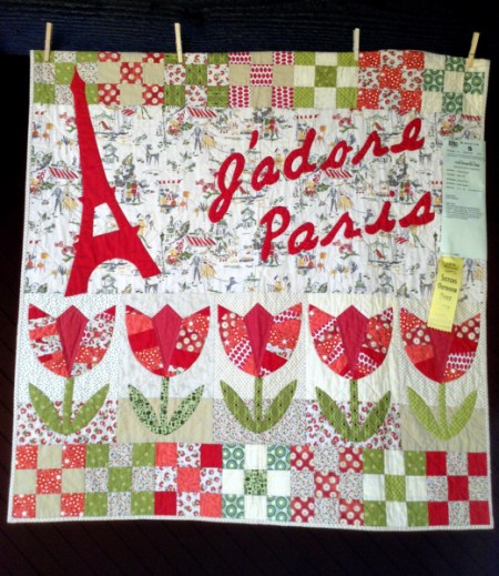 J'Adore Paris!, 41 x 42, by Kristin Shields of Bend OR