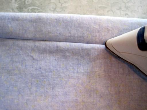 pcases 17 using tip of iron to flatten seam