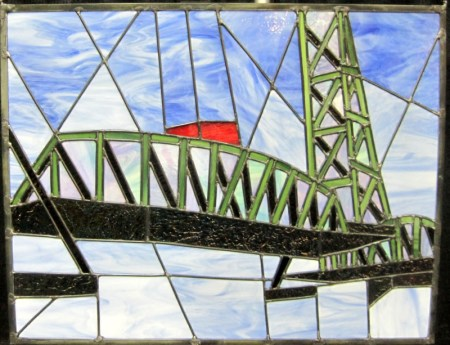 Bridge Challenge, Linda Dyer's stained glass