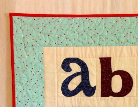 Susan's quilt, detail